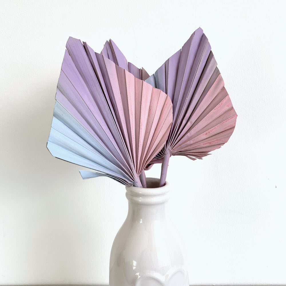 pastel palm spears cake topper