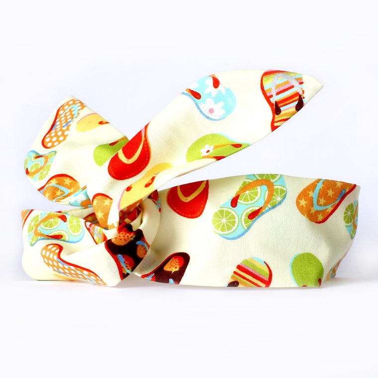 Fruity Flip Flop Dolly Bow