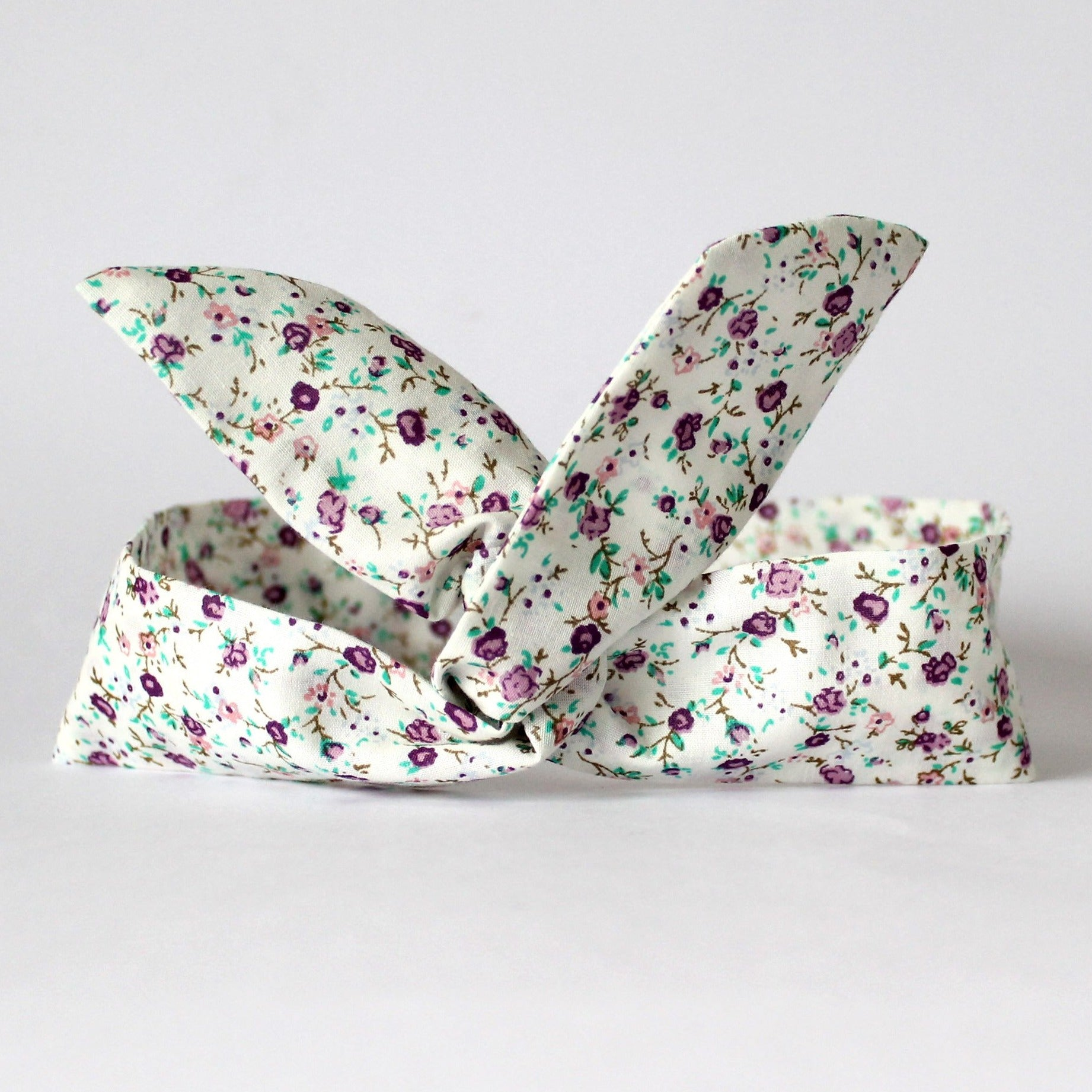 cream dolly bow headband