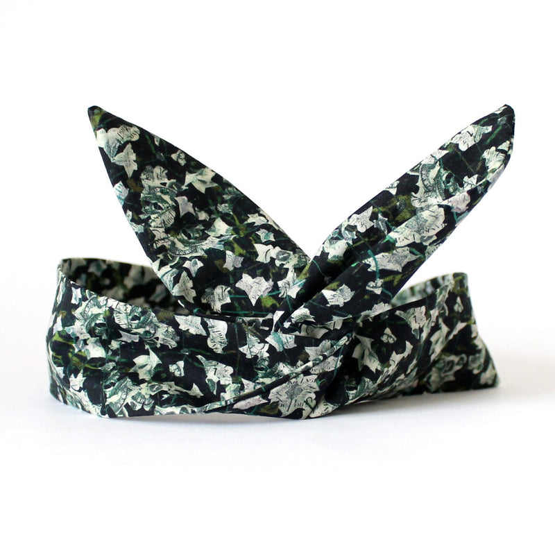 money dolly bow wired headband