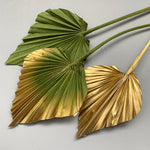 khaki green and gold palm spears cake topper