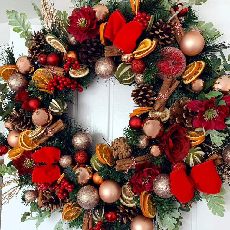 Large Dried Fruit Christmas Wreath