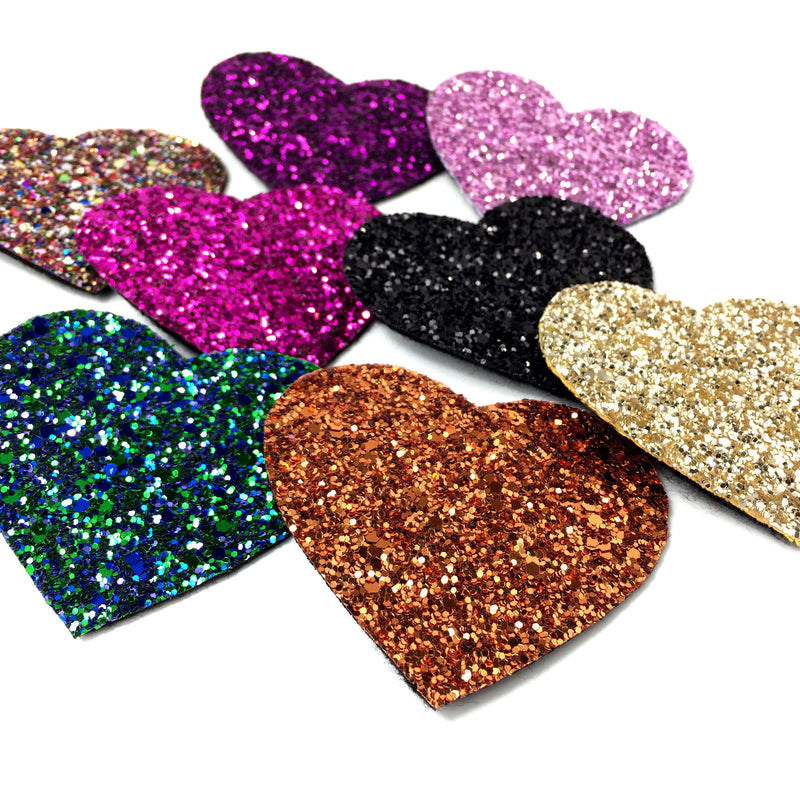 glitter heart hair clips hair accessories