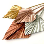 metallic rose gold silver copper dried palm spears