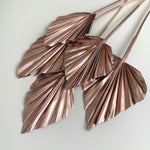 Mini dried palm spears - rose gold