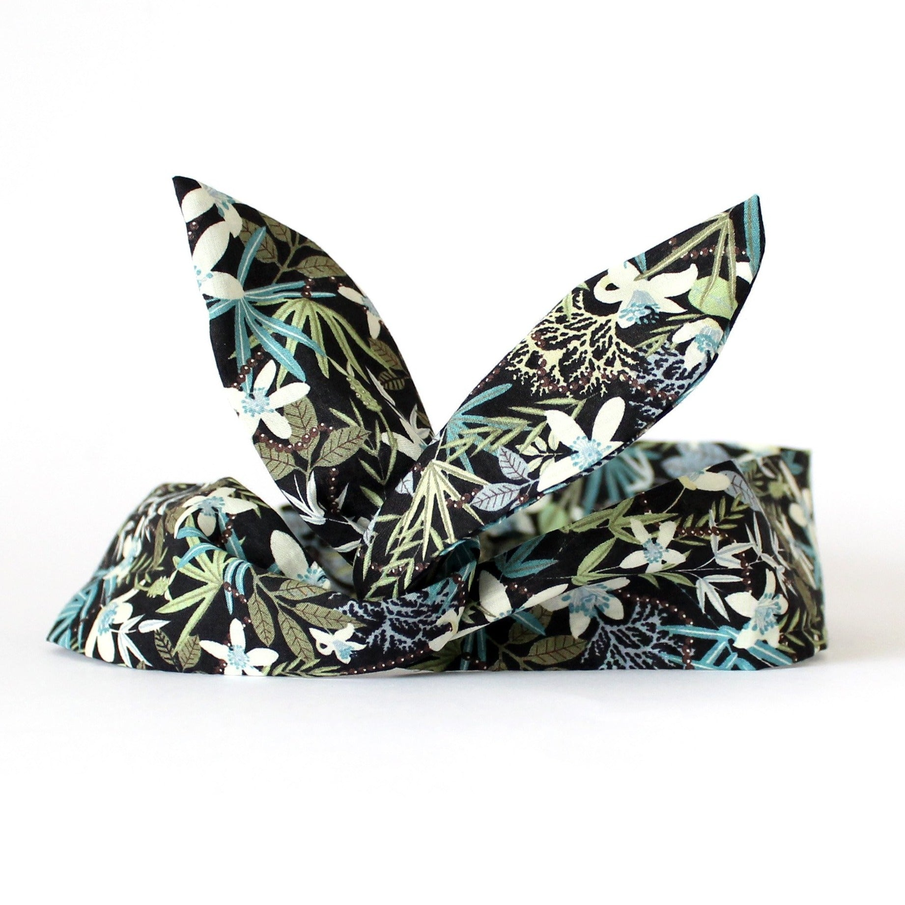 dolly bow leaf print headband