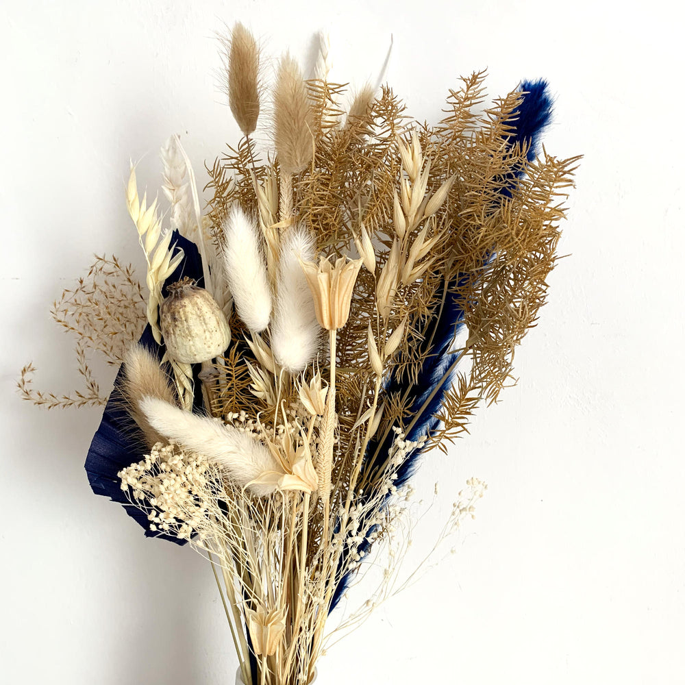 Dark Blue Dried Flower Arrangement - Letterbox flowers