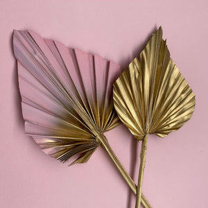 cake topper palm spears pink gold