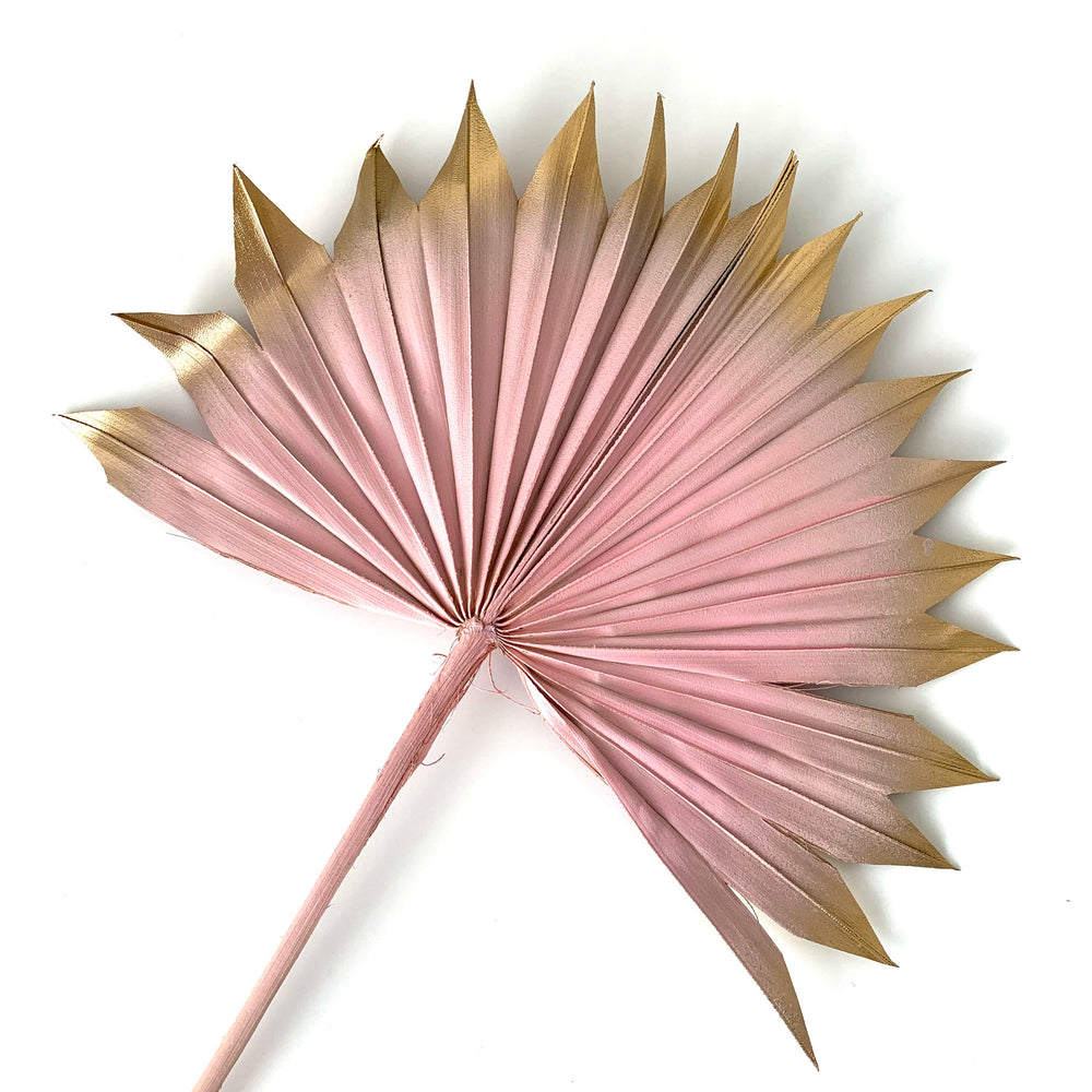 pink and gold palm spear