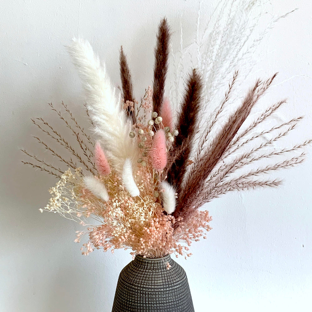 Pink Mink Dried Flower Arrangement - Letterbox flowers