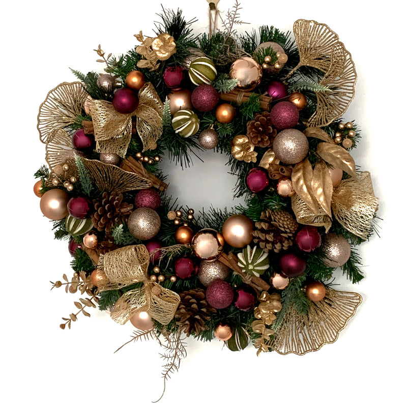 gold and purple christmas wreath unique door hanging decor
