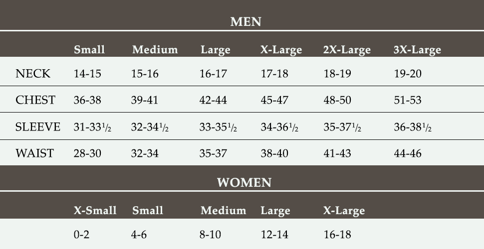 Turtleson Size Chart