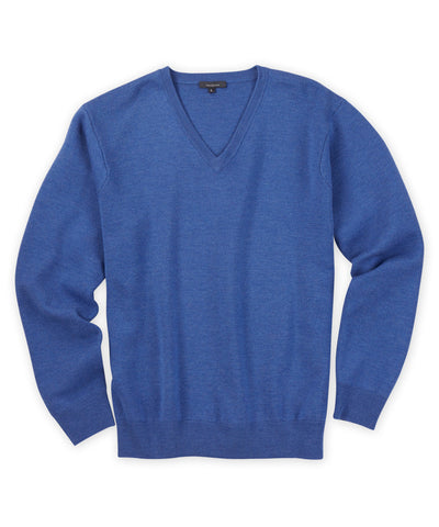Extra Fine Merino Milano-Stitch V-Neck Sweater - turtleson