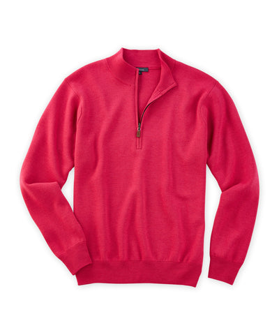 Extra Fine Merino Milano-Stitch Quarter-Zip Sweater - turtleson