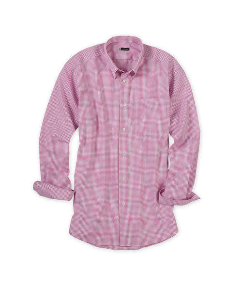 No-Iron Gingham Check Sport Shirt - turtleson