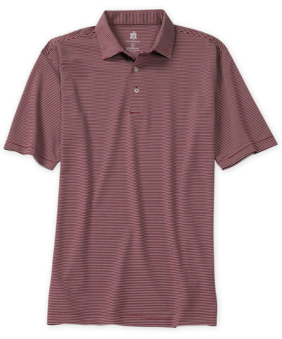 Pique Stripe Performance Polo - turtleson