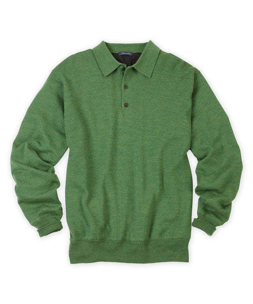Italian Merino 3-Button-Placket Lined Sweater - turtleson