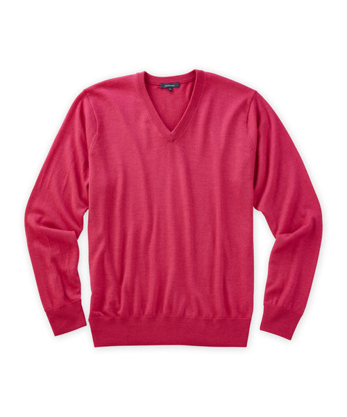 Italian Merino V-Neck Sweater - turtleson