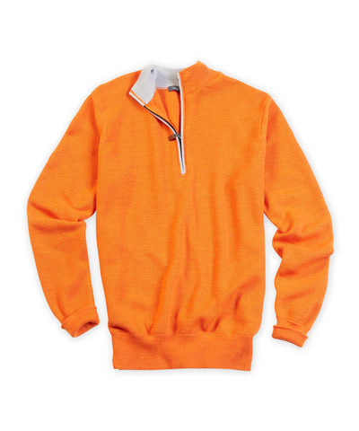 Waffle Merino Quarter-Zip Sweater - turtleson