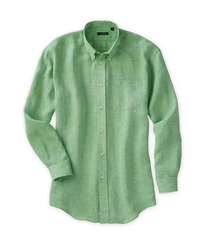 Solid Soft-Washed Linen Sport Shirt - turtleson