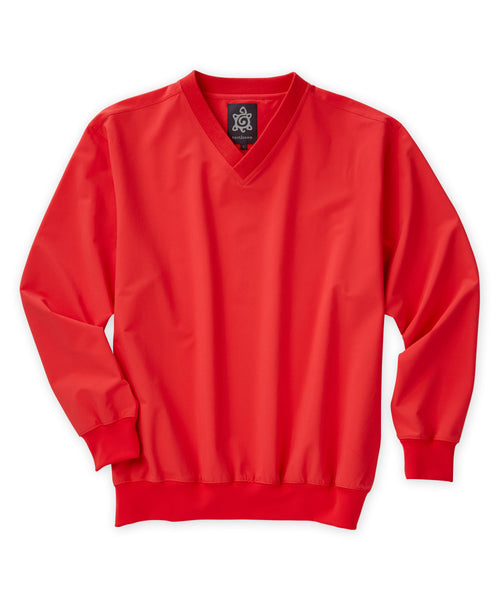 Wind Shell Stretch Long Sleeve V-Neck Pullover - turtleson