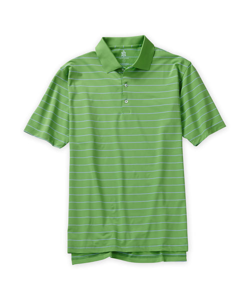 Unbalanced Stripe Performance Polo - turtleson