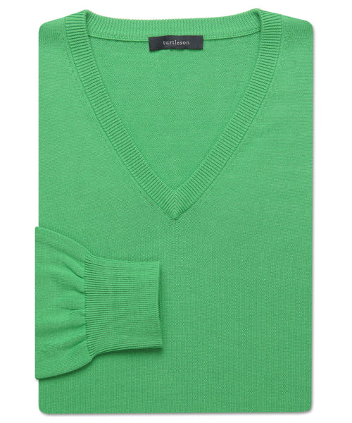 Pima V-Neck Sweater - turtleson