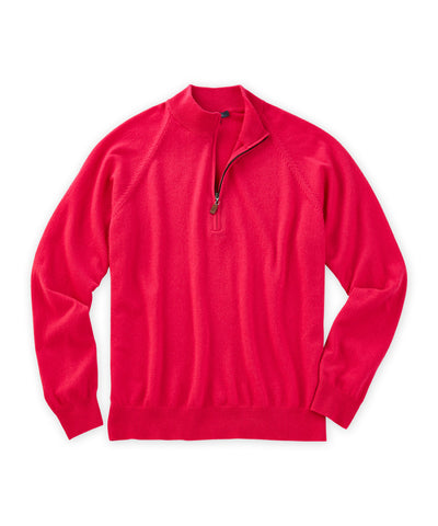 Cashmere Solid Quarter-Zip Sweater - turtleson
