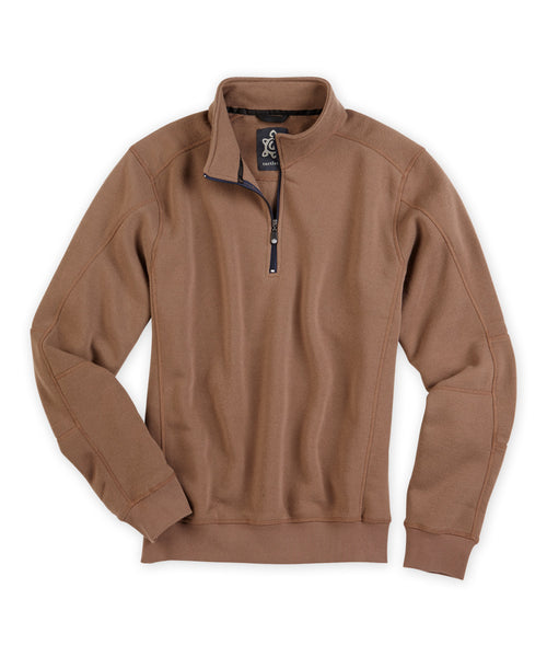 Brushed Fleece Quarter-Zip Pullover - turtleson