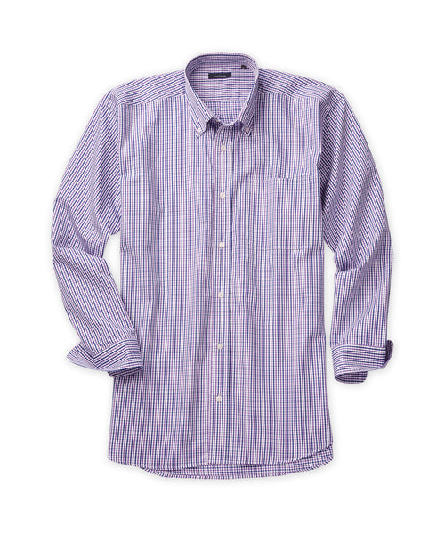 Multi-Windowpane Sport Shirt - turtleson
