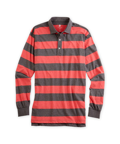 Heathered Stripe Rugby, Long Sleeve - turtleson