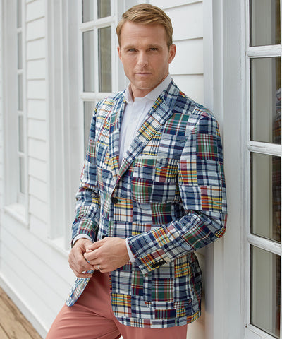Madras Patchwork Sport Coat - turtleson