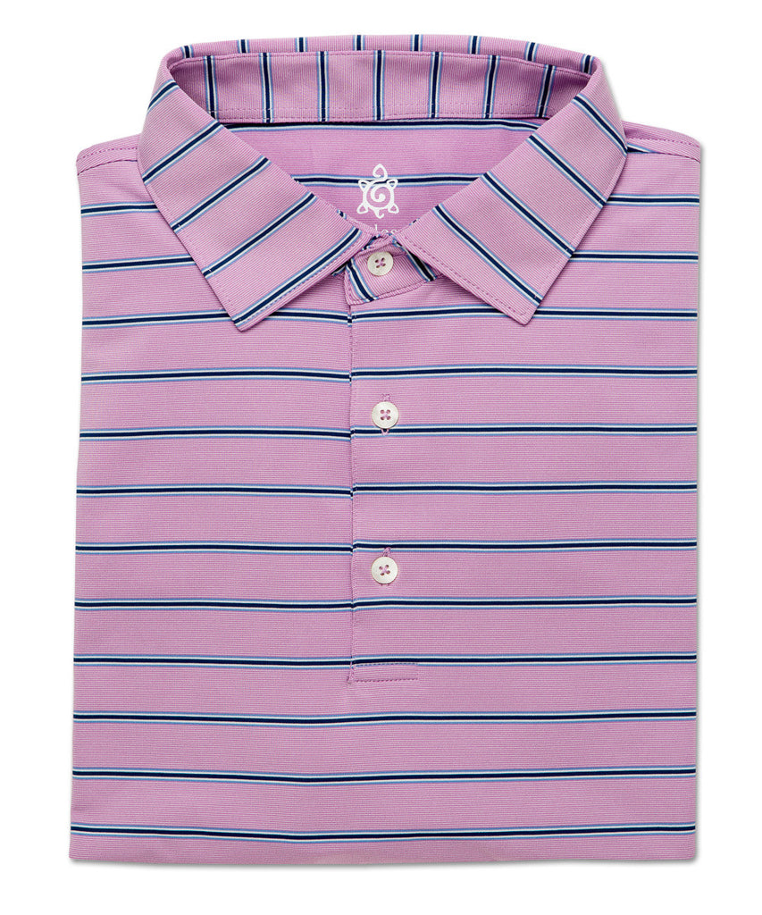 Stack Stripe Performance Polo - turtleson