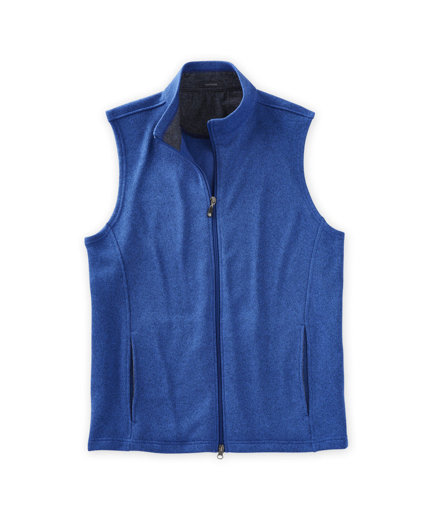 McClure Heathered Full-Zip Vest - turtleson