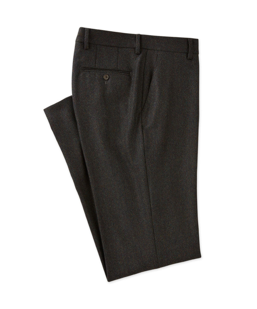 Lambswool/Cashmere Herringbone Trouser - turtleson