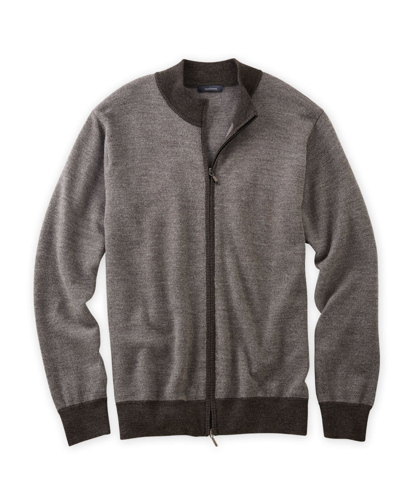 Merino Oxford Full-Zip Jacket - turtleson