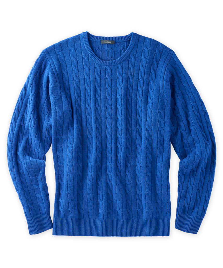 Cashmere Chunky Cable Crewneck Sweater - turtleson