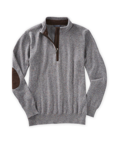 Cashmere Donegal Quarter-Zip Sweater - turtleson