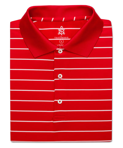 Viers Stripe Performance Polo - turtleson