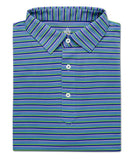 Plantation Stripe Performance Polo - turtleson