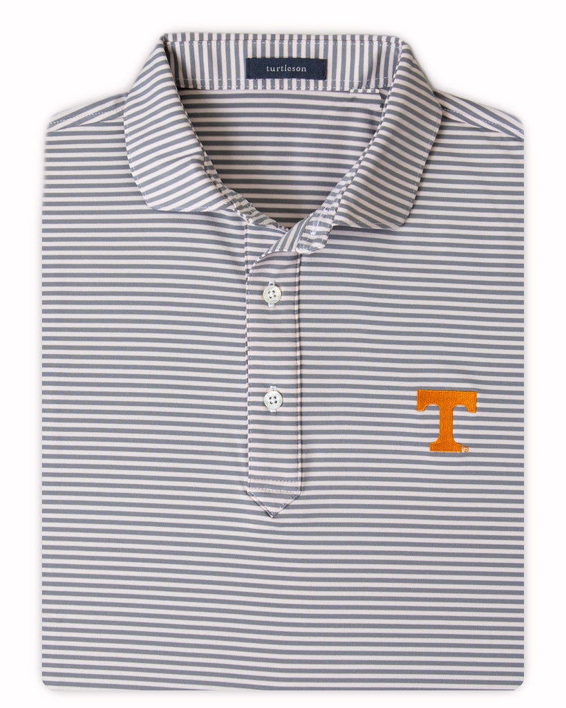 Classic Stripe Performance Polo - UNIVERSITY OF TENNESSEE - 01105-103:LCH:TEAM