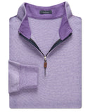 Heathered Interlock Quarter-Zip Pullover - turtleson