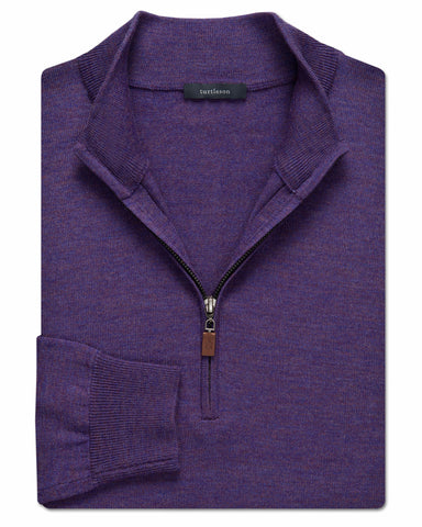 Italian Wool Quarter-Zip Sweater - turtleson