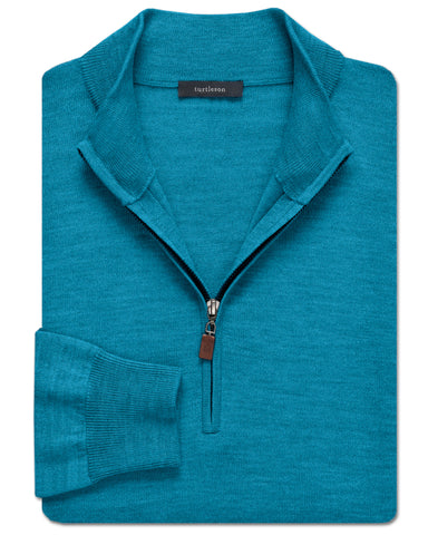 Italian Wool Quarter-Zip Sweater