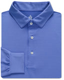 Fine Stripe Performance Polo, Long Sleeve - turtleson