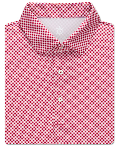 Diagonal Gingham Performance Polo - turtleson