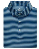 Warren Stripe Performance Polo - turtleson