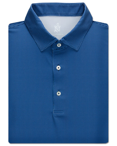 Houndstooth Performance Polo - turtleson