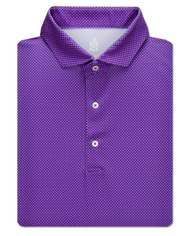 Dot Jacquard Performance Polo - turtleson