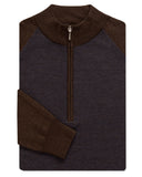 Merino Front-Panel Herringbone Quarter-Zip - turtleson